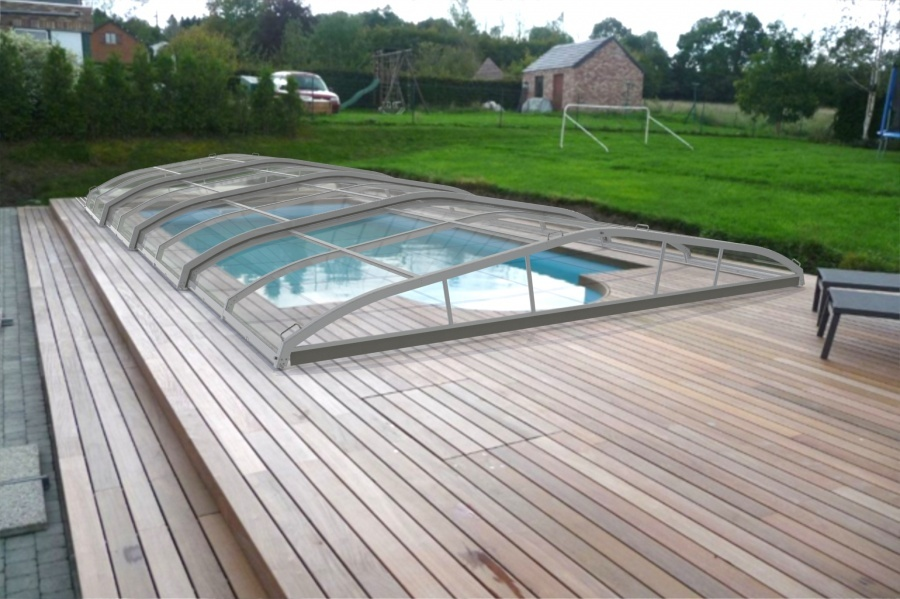 Piscine abri bas t lescopique for Prix piscine coque 4x8