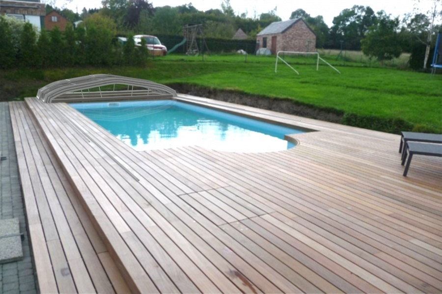 Piscine abri bas t lescopique for Abris bas piscine