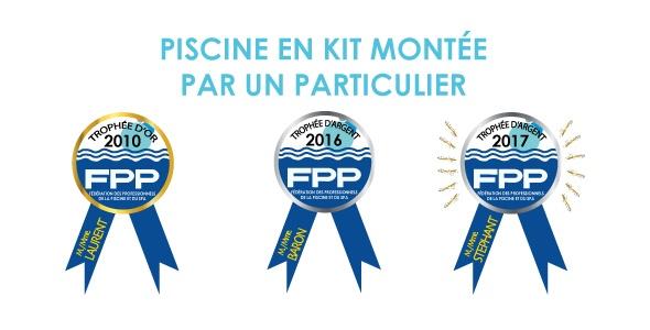TROPHÉES FPP décerné à AQUADISCOUNT pour sa piscine en kit montée par un particulier.