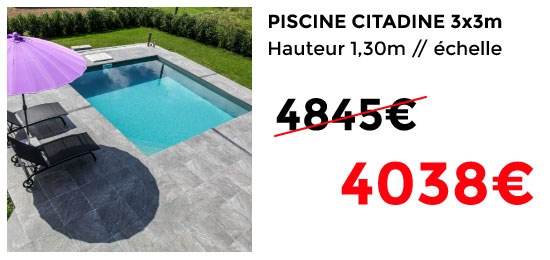 Piscine Citadine 3x3 TVA offerte